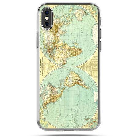Etui na telefon iPhone X - mapa świata