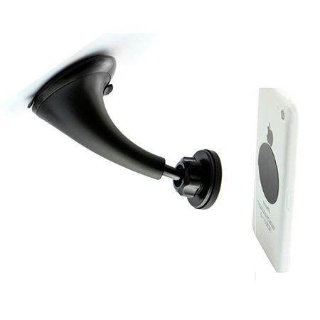 Magnetyczny uchwyt samochodowy na telefon - do Szyby - Czarny.