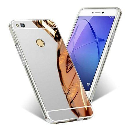 Mirror bumper case na Huawei P9 Lite 2017 - Srebrny