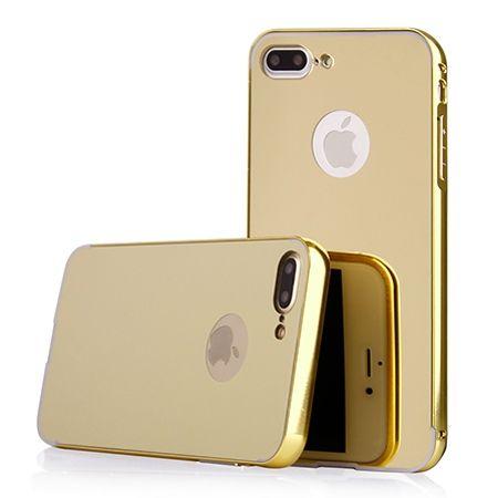 Mirror bumper case na iPhone 8 Plus - Złoty.