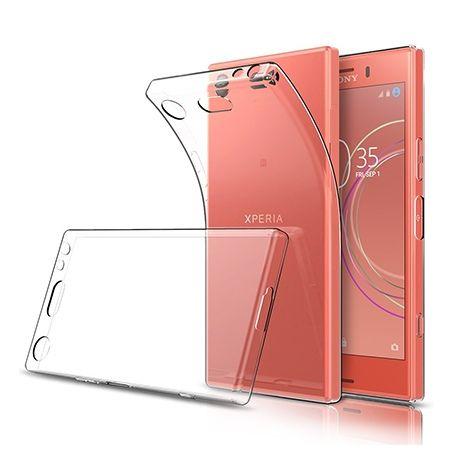 Etui na Xperia XZ1 compact silikonowe, przezroczyste crystal case.
