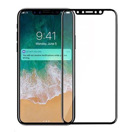 ROCK hartowane szkło na cały ekran 3d  iPhone X - Czarny.