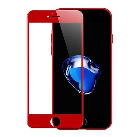 Hartowane szkło na cały ekran 3d iPhone 8 - Czerwony.