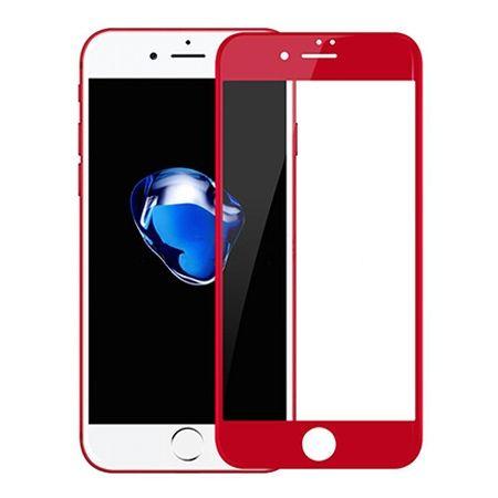 Hartowane szkło na cały ekran 3d iPhone 6 / 6s - Czerwony.