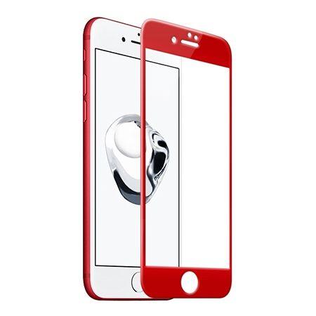 Hartowane szkło na cały ekran 3d iPhone 7 - Czerwony.