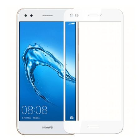 Hartowane szkło na cały ekran 3d Huawei P9 Lite mini - Biały.