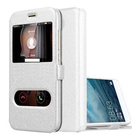 Etui na Huawei P9 Lite mini -  Flip Quick View z klapką dwa okienka - Biały.
