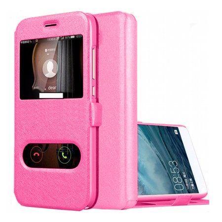 Etui na Huawei P9 Lite mini -  Flip Quick View z klapką dwa okienka - Różowy.