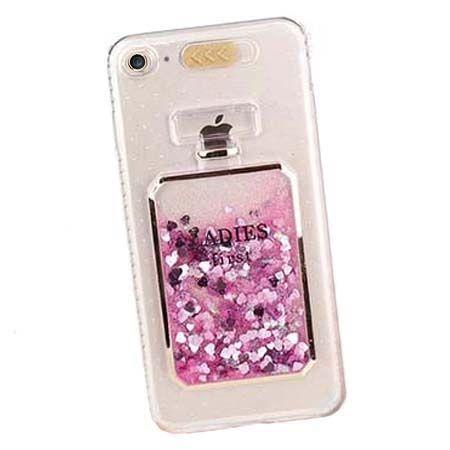 Etui na iPhone 6 / 6S z płynem w środku brokat Perfume.