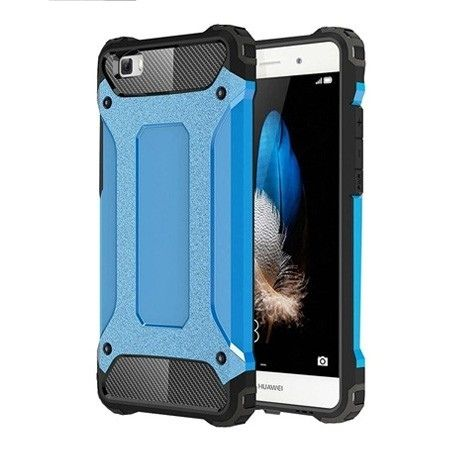 Huawei P8 pancerne etui na telefon - Niebieski.
