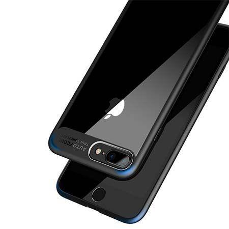 Etui na iPhone 8 Plus -  ROCK Clarity - Czarny.