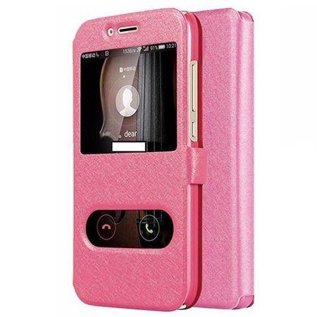 Etui na Huawei Mate 10 Lite Flip Quick View z klapką dwa okienka - Różowy.