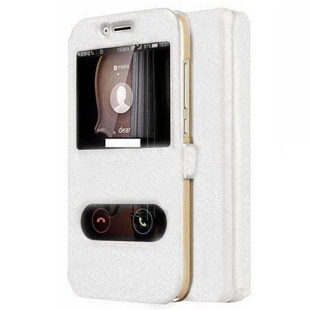 Etui na Huawei Mate 10 Lite Flip Quick View z klapką dwa okienka - Biały.