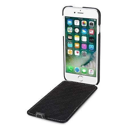 Etui na iPhone 8 Plus Stilgut Ultraslim skórzane - Czarny.