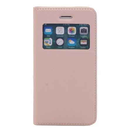 Etui na iPhone 6 / 6s - S View z klapką - Różowy.