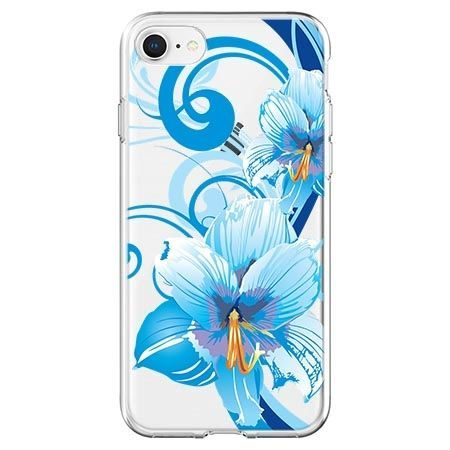 Etui na telefon - niebieski kwiat północy.
