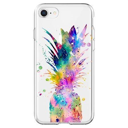 Etui na telefon - watercolor ananasowa eksplozja.