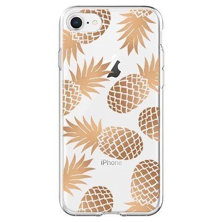 Etui na telefon - złote ananasy.
