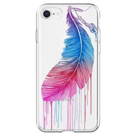 Etui na telefon - watercolor piórko.