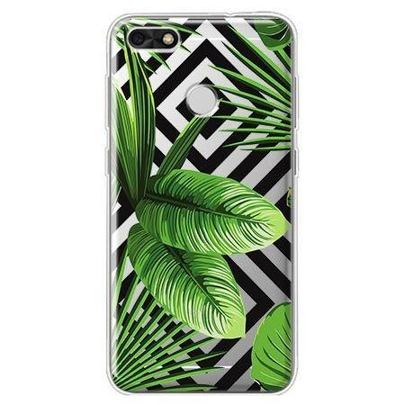 Etui na Huawei P9 Lite mini - egzotyczne liście bananowca.