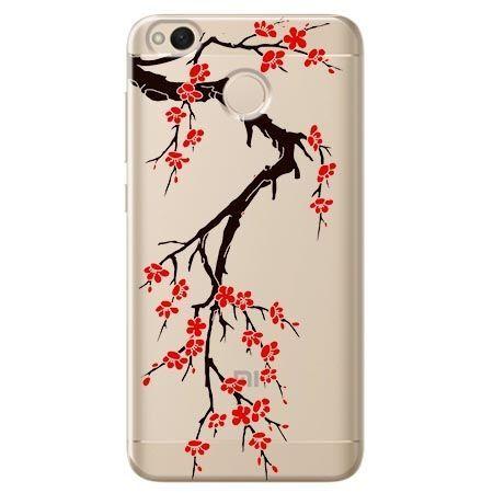 Etui na Xiaomi Redmi 4X - krzew kwitnącej wiśni.