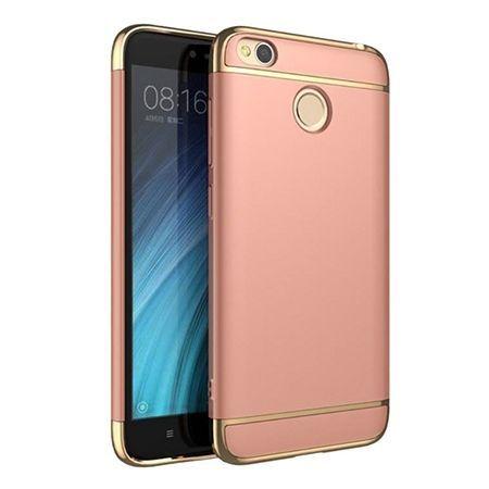 Etui na telefon Xiomi Redmi 4X - Slim MattE Platynowane - Różowy.