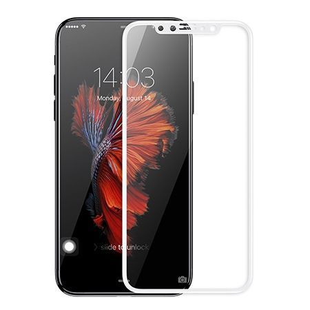 Hartowane szkło na cały ekran 3d iPhone X - Biały.