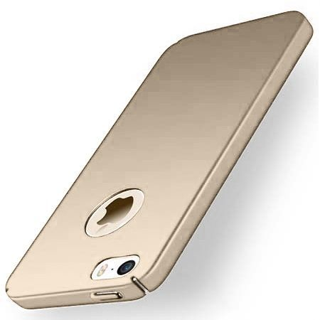 Etui na telefon iPhone 5 / 5s - Slim MattE - Złoty.