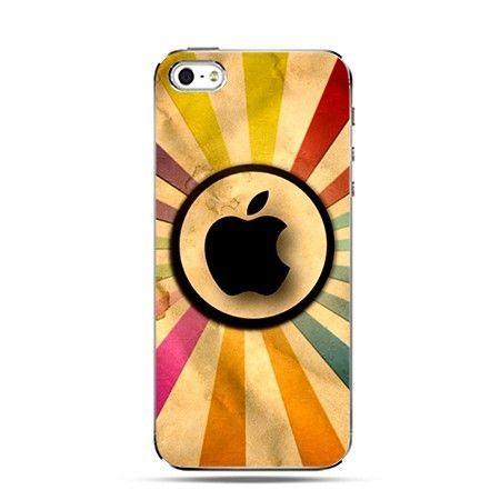 Etui logo Apple tęcza