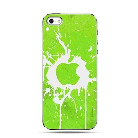 Etui logo Apple zielone