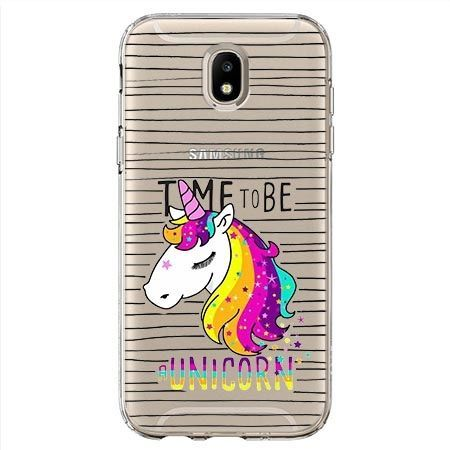 Etui na Samsung Galaxy J7 2017 - time to be unicorn - Jednorożec.