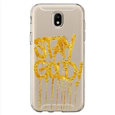 Etui na Samsung Galaxy J7 2017 - Stay Gold.