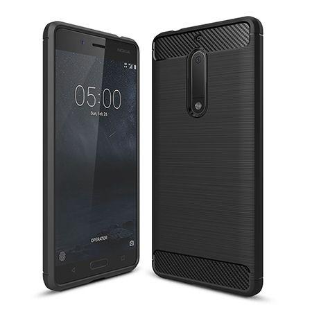 Etui na Nokia 5 - bumper Neo CARBON - Czarny.