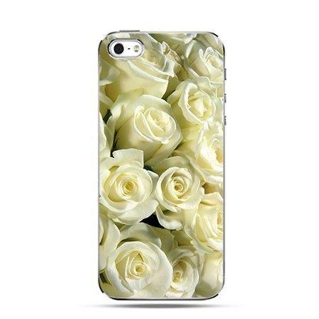 Etui na telefon białe róże.