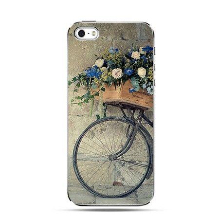Etui rower z kwiatami