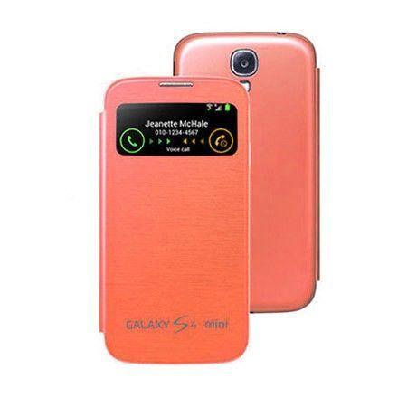 Etui Samsung Galaxy S4 Mini z klapką Flip cover S-view - Pomarańczowy PROMOCJA !!!