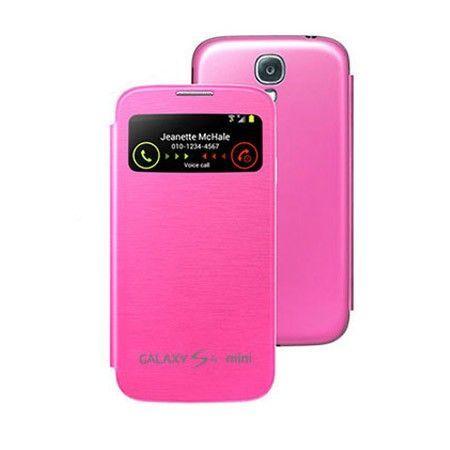 Etui Samsung Galaxy S4 Mini Okienko  Flip cover S-view - Różowy
