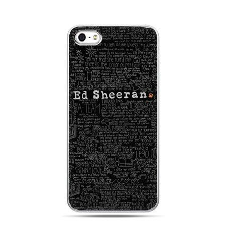 Etui na telefon Ed Sheeran czarne poziome