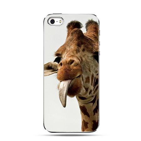 Żyrafa z językiem- Twarde Etui z nadrukiem iPhone 6 plus