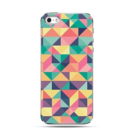Kolorowe trójkąty - Twarde Etui z nadrukiem iPhone 6 plus