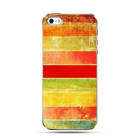 Kolorowe szerokie pasy - Twarde Etui z nadrukiem iPhone 6 plus
