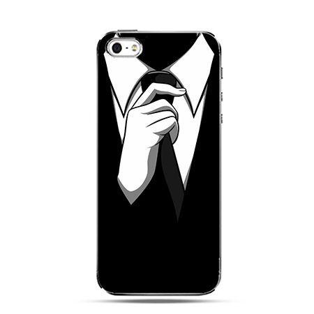 Czarny krawat - Twarde Etui z nadrukiem iPhone 6 plus