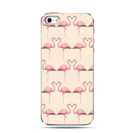 Różowe flamingi - Twarde Etui z nadrukiem iPhone 6 plus