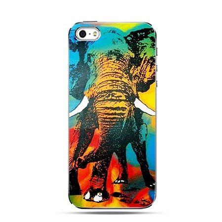 Tęczowy słoń - Twarde Etui z nadrukiem iPhone 6 plus