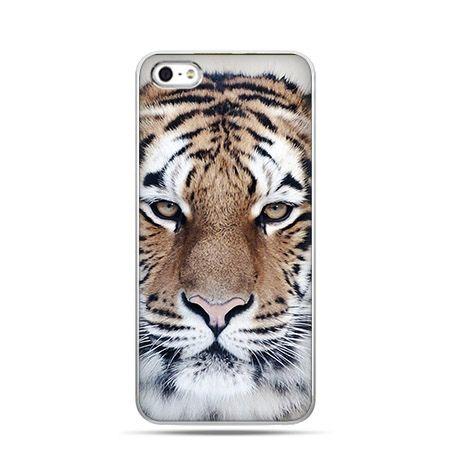 Śnieżny tygrys - Twarde Etui z nadrukiem iPhone 6 plus