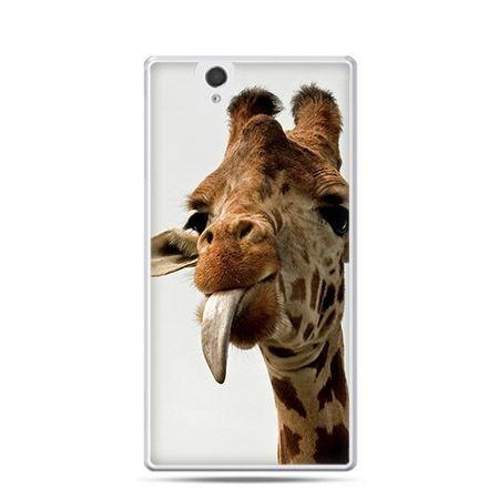 Żyrafa z językiem - Przezroczyste tui z nadrukiem dla  Xperia Z