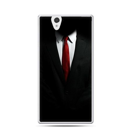 Czerwony krawat etui z nadrukiem dla  Xperia Z twarde, ochronne