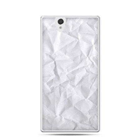 Pomięty papier etui z nadrukiem dla  Xperia Z twarde, ochronne