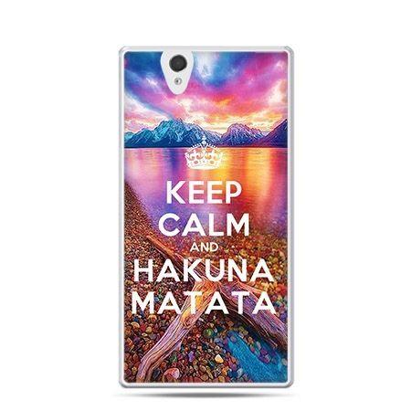 Keep calm and Hakuna Matata etui z nadrukiem dla  Xperia Z twarde, ochronne
