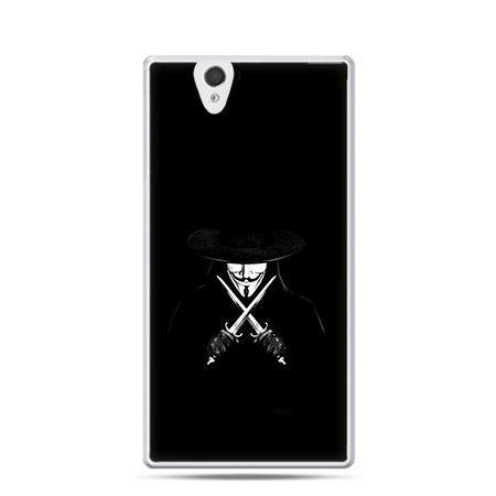 Anonimus etui z nadrukiem dla  Xperia Z twarde, ochronne